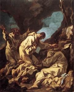 Alessandro Magnasco, «Tre monaci camaldolesi in preghiera» (1713-14), 54,5x39, Amsterdam, Rijksmuseum