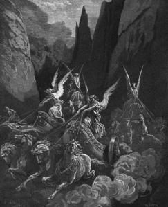 Le quattro quadrighe di Zaccaria, in un'illustrazione di Doré, 1865.